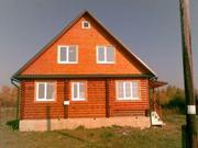 Дом-Сруб . Недострой в деревне по Ярославскому шоссе