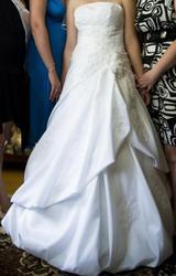 Продам белое свадебное платье,  размер 44-46